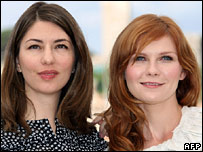 Sofia Coppola (l) and Kirsten Dunst