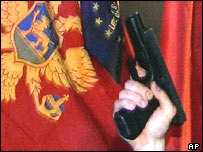 Gun in Montenegro celebration