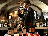 Wine expert Steven Spurrier at the London tasting