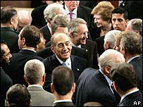 Mr Olmert meeting members of Congress