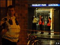 Scene of shooting in Finsbury Park
