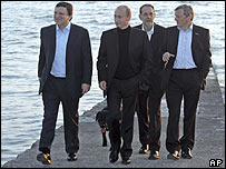 Barroso, Putin, Solana and Schuessel in Sochi