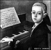 Picture of Wolfgang Amadeus Mozart as a child