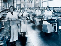 Women working in the factory