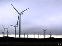 Windfarm in Scotland.  Image: PA