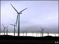 Windfarm in Scotland.  Image: PA