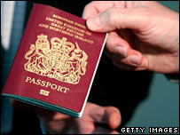 A UK passport