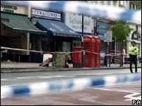 Scene of shooting in Upper Street, Islington