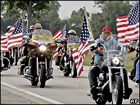 Patriot Guard Riders were formed last year
