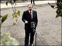 Tony Blair outside Downing Street