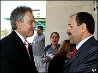 توني بلير ونوري المالكي