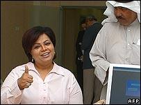 La candidata Aisha al-Rshaid