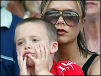 Victoria Beckham with son Brooklyn