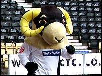 Rammie goes the extra mile at Derby County's Pride Park