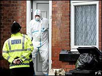 Police at house in Whalley Range in Manchester