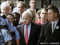 Kenneth Lay outside court