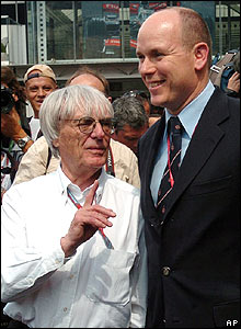 F1 boss Bernie Ecclestone and Monaco's Prince Albert