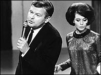 Benny Hill and dancer