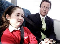 Cameron and child