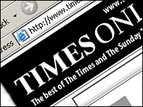 Times Online site