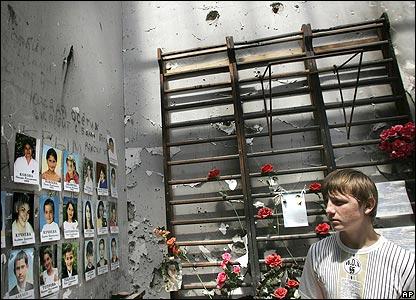 Gymnasium of the school in Beslan