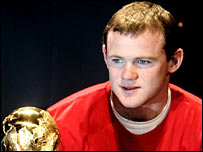 Wayne Rooney stares at the World Cup
