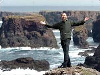 Shahid Naqvi on Shetland  (Pic: Birmingham Post)