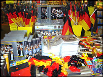 World Cup-themed souvenirs on sale in German store