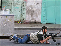 Gunman on Gaza street