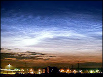 Noctilucent clouds (Peter Dalin)