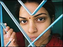 HIV positive woman in India