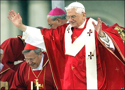 Pope Benedict XVI delivers blessing