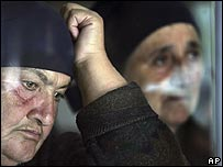 Relatives of victims of the Beslan school siege