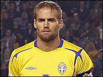 Sweden defender Olof Mellberg