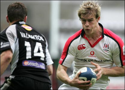 Action from Ulster's narrow victory over the Ospreys