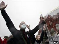 Extrema derecha rusa protesta contra la marcha gay