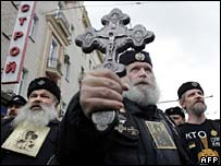 Orthodox protesters
