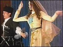 Chechen girl dancing