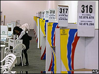 Mesas de votación en Bogotá