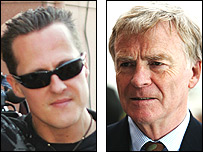 Michael Schumacher and Max Mosley