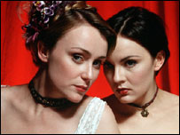 Keeley Hawes as Kitty Butler and Rachael Stirling as Nan Astley in Tipping The Velvet