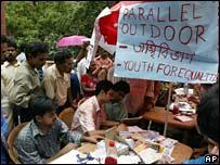 Junior doctors protest in Calcutta