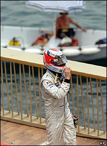 A dejected Kimi Raikkonen