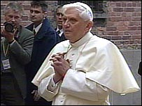 Pope Benedict XVI at Auschwitz