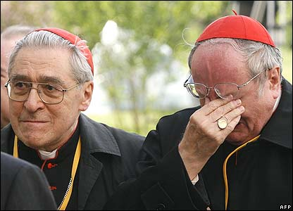 Cardinals Jean Marie Lustiger (left) and Joachim Meissner