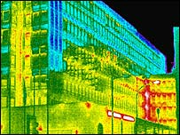 Image showing heat loss from a building