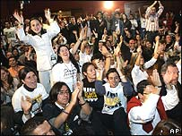 Supporters of Alvaro Uribe