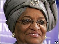 Ellen Johnson-Sirleaf, presidenta de Liberia