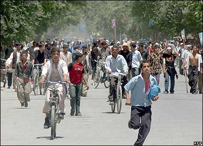 Protesters on Kabul streets