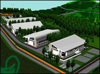Artist's impression of planned Quality Chemicals factory in Uganda